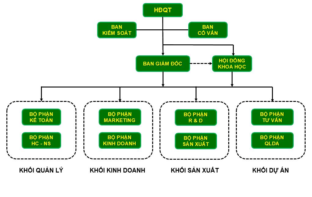 Cơ cấu tổ chức DNP